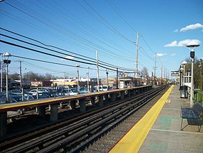 L.I.R.R. train platform with empty tracks