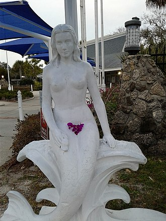 Weeki Wachee Springs - Mermaid statue at Weeki Wachee Springs, Florida