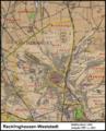 Messtischblatt 25 Recklinghausen-Weststadt 1907 vs 2013.png