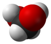 Spacefill model of methanediol