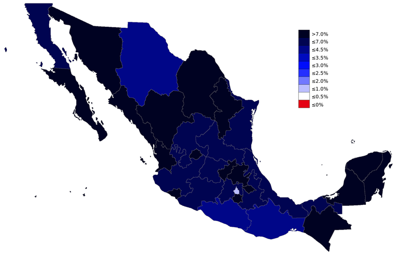 List of Mexican states by population growth rate Wikipedia