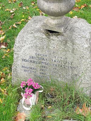 Michał Karaszewicz-Tokarzewski - Michał Tokarzewski gravestone in Brompton Cemetery, London.