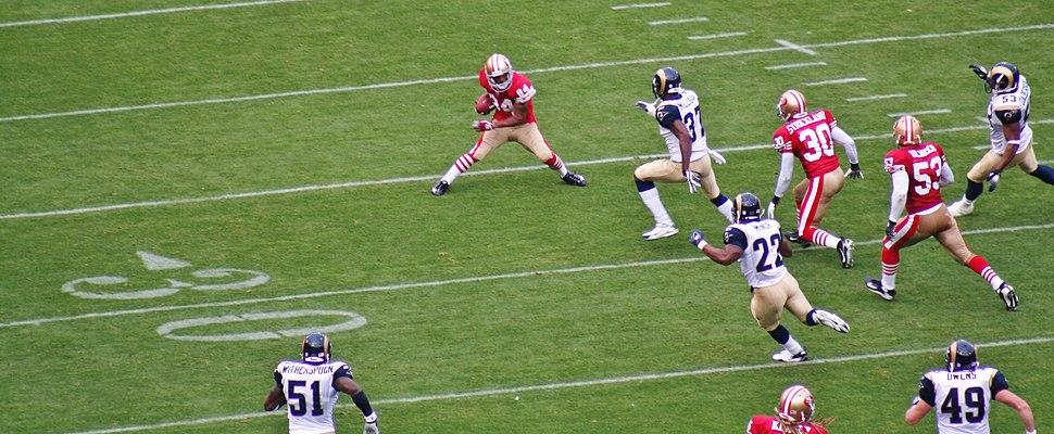 Michael Lewis punt return vs Rams