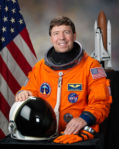 Astronaut Michael R. Barratt, NASA photo JSC2010-E-177742 (13 July 2010)Source: Wikipedia (spaceflight.nasa.gov killed 25 Feb 2021) 384px-Michael_R._Barratt_2010.jpg