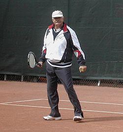 """Nikita Michałkow na planie filmu """"Persona non grata"""" w Moskwie, wrześnień 2004"""