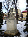 Mihai Eminescu`bust in the courtyard of Pogor House. jpg.JPG