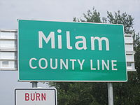 Milam County, TX, sign IMG 2241.JPG