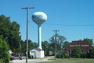 Milford, Illinois - Image: Milford Illinois Water Tower