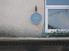 Millom - blue plaque for Norman Nicholson.JPG