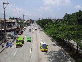 Circumferential Road 5 - Mindanao Avenue in barangay Tandang Sora, Quezon City