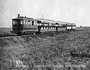 Lyndale Railway Company - Cars and 'motor' of the Minneapolis, Lyndale and Lake Calhoun Railway
