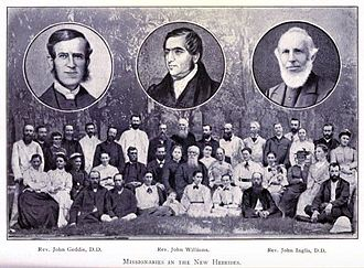 John Geddie (missionary) - Missionaries active in the New Hebrides; right hand inset is John Inglis
