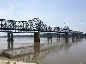 U.S. Route 80 - Old Vicksburg Bridge across the Mississippi River