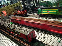 Model Tube Trains in Lego - Museum Acton Depot - London Transport Museum Open Weekend March 2012 (6825115316).jpg