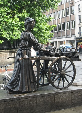 Grafton Street - Statue of Molly Malone on Grafton Street