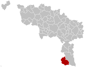 Momignies - Image: Momignies Hainaut Belgium Map
