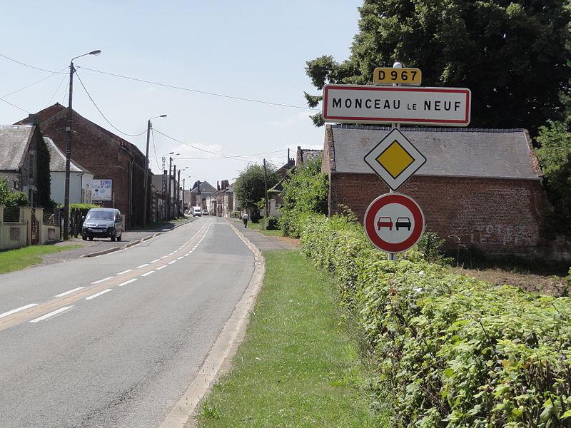 Monceau-le-Neuf-et-Faucouzy (Aisne) City limit sign Monceau le Neuf