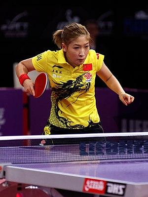 Liu Shiwen - Image: Mondial Ping Women's Singles Quarterfinal Melek Hu Liu Shiwen 09