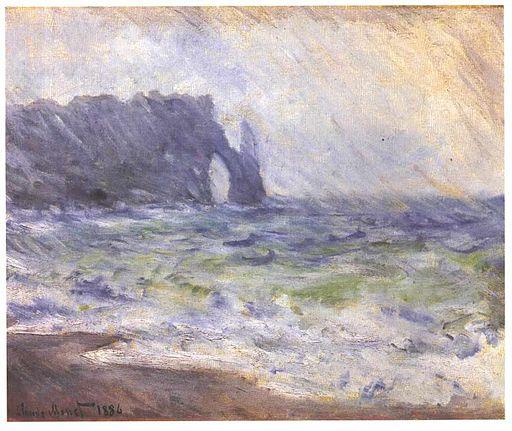 Monet - Regen bei Eretat