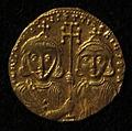 Monete d'oro di giustiniano II e tiberio IV, 705-711, 02, 1.jpg