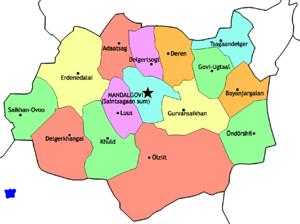 Dundgovi Province - Sums of Dundgovi