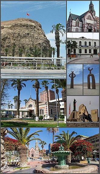 Arica - Image: Montaje de Arica