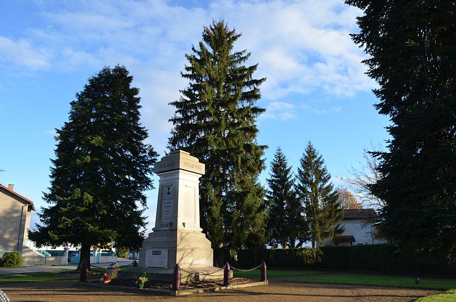 Monument aux morts 1914-18 de Saint-Trivier-sur-Moignans.
