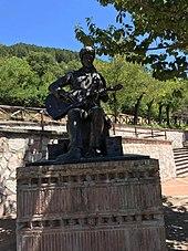 Il monumento a Lucio Battisti