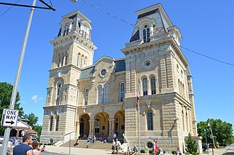 Morgan County, Illinois - Image: Morgan County Courthouse, Jacksonville
