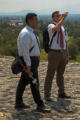 Missionary (LDS Church) - Missionaries in Mexico, dressed for tropical weather