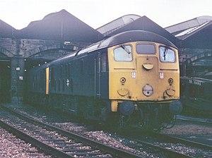 British Rail Class 24 - Class 24, no. 24065 at Motherwell depot, May 1976
