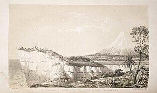 Mount Egmont from near the Waimate Pah, Taranake