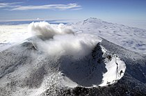 Mount Erebus craters, Ross Island, Antarctica (aerial view, 18 December 2000).jpg