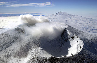 Mount Erebus - Image: Mount Erebus craters, Ross Island, Antarctica (aerial view, 18 December 2000)