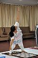 Mrs Manekar - Trikonasana - International Day of Yoga Celebration - NCSM - Kolkata 2015-06-21 7325.JPG