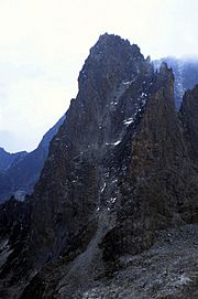 Shipton and Russell made the first ascent of Pt John up the south-east gully in 1929