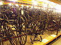 Museum Collections Centre - 25 Dollman Street - warehouse - old bicycles - Two Seater Tricyle, Tandem and Bicycle (boneshaker) (7275822402).jpg
