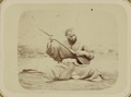 Musical Instruments and Musicians. A Man Playing a Dutar, a Long-Necked Fretted Lute WDL10767.png