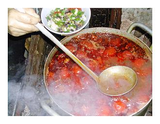 Bún ốc - noodle broth with snails