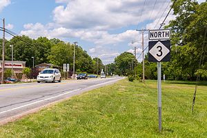 North Carolina Highway 3 - Northbound NC 3, in Concord