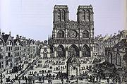 ND de Paris le parvis vers 1750.jpg