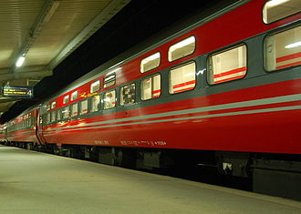 Trondheim Central Station - Night train awaiting departure to Oslo