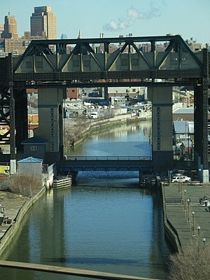 IND Culver Line - The Culver Viaduct spans the Gowanus Canal.