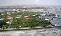 Aerial view of Nad Al Sheba Racecourse