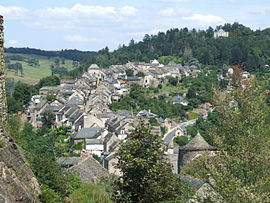 A general view of Najac