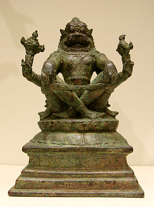 Narasimha - Narasimha, Chola period, 12th -13th century, Tamil Nadu. from Museum Guimet, Paris.