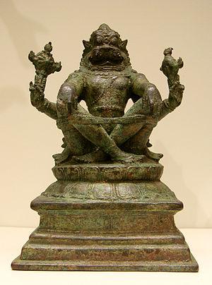 Narasimha - Narasimha, Chola period, 12th -13th century, Tamil Nadu. from Museum Guimet, Paris.