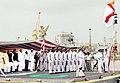 Narendra Modi commissioned INS Kolkata into the Indian Navy at a glittering ceremony, at the Naval Dockyard, in Mumbai. The Governor of Maharashtra, Shri K. Sankaranarayanan, the Chief Minister of Maharashtra.jpg