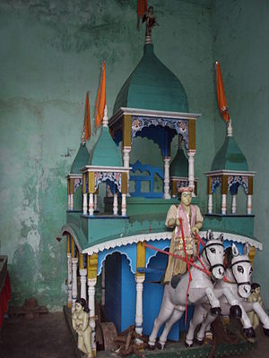 Nashipur Akhara - A ratha inside the akhara.