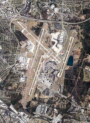 Nashville International Airport - Image: Nashville International Airport Aerial June 2011